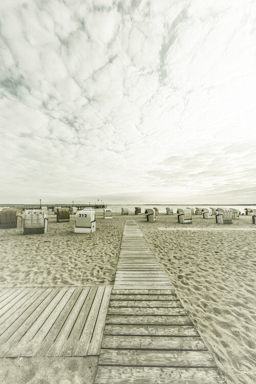 Ekskluzivna fotografska umetnost BALTIC SEA Idyllic evening atmosphere   Vintage