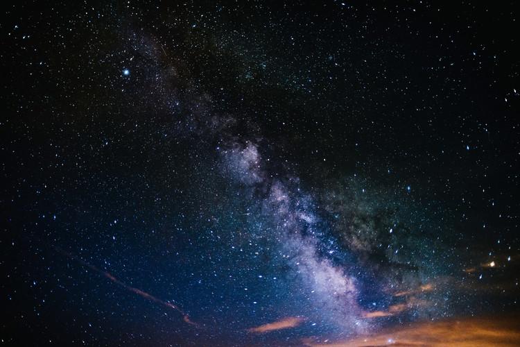 Ekskluzivna fotografska umetnost Details of Milky Way of St-Maria multicolour graded