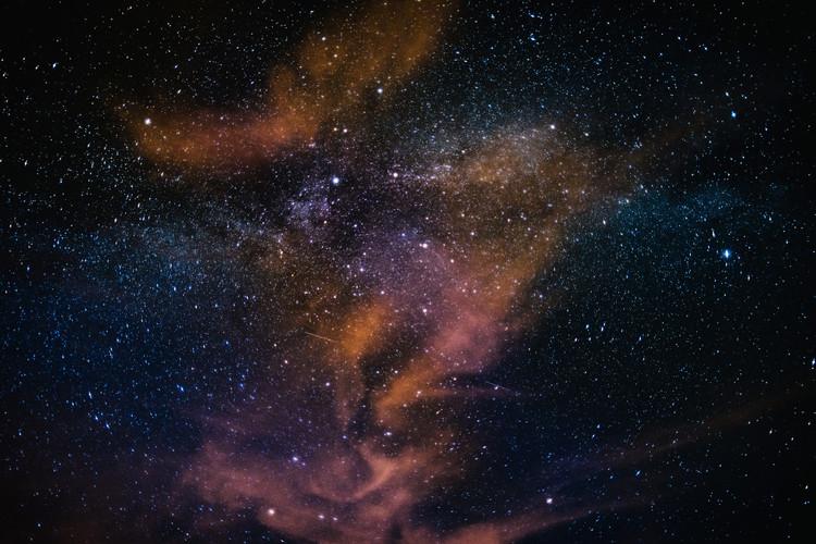Ekskluzivna fotografska umetnost Details of Milky Way of St-Maria multicolour graded with clouds