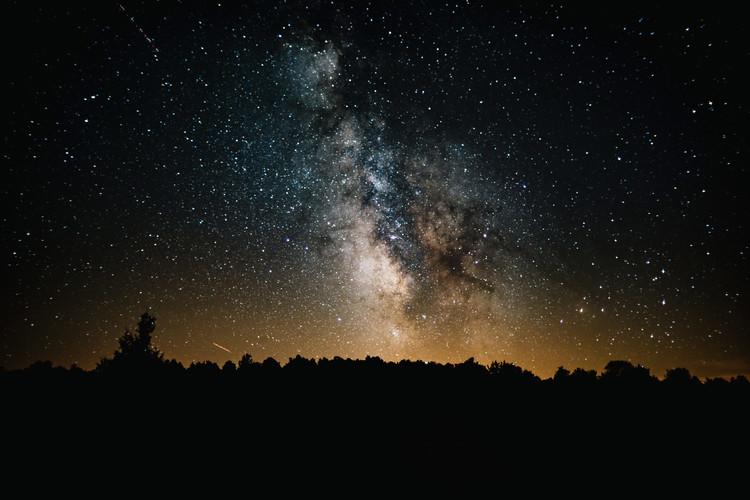 Ekskluzivna fotografska umetnost Details of Milky Way of St-Maria with yellow-dark graded