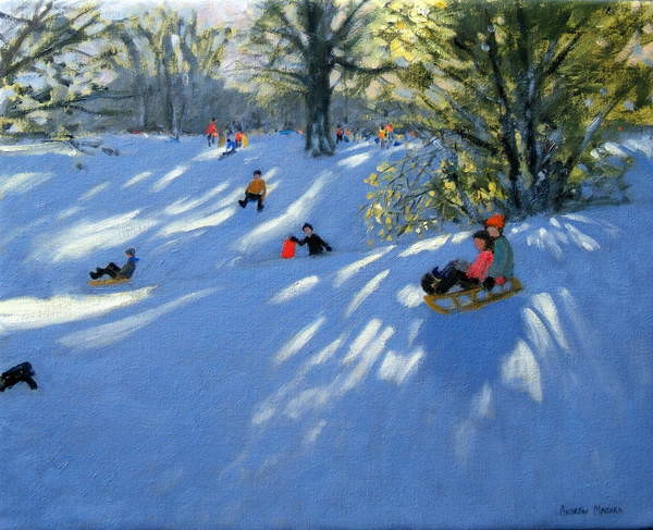 Early snow, Darley Park, Derby Reprodukcija