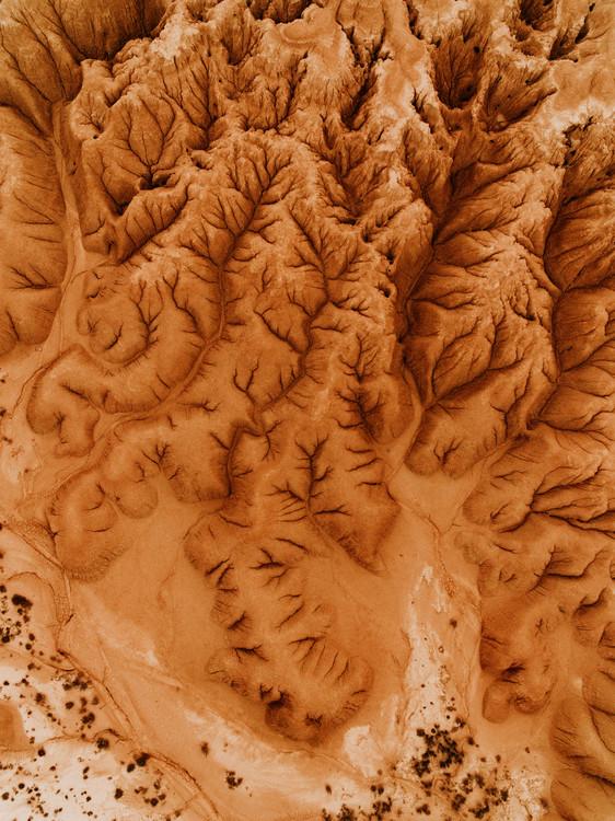 Ekskluzivna fotografska umetnost Eroded desert in spain