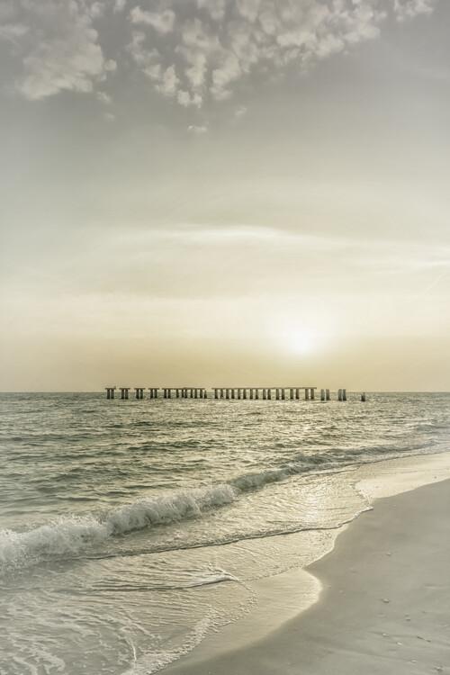 Ekskluzivna fotografska umetnost Gasparilla Island Sunset | Vintage