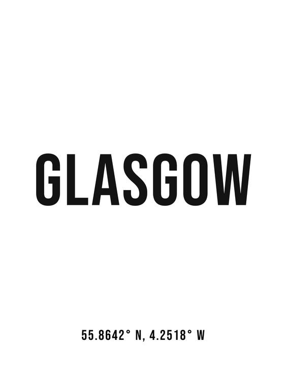 Ekskluzivna fotografska umetnost Glasgow simple coordinates