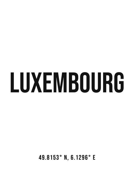 Ekskluzivna fotografska umetnost Luxembourg simple coordinates