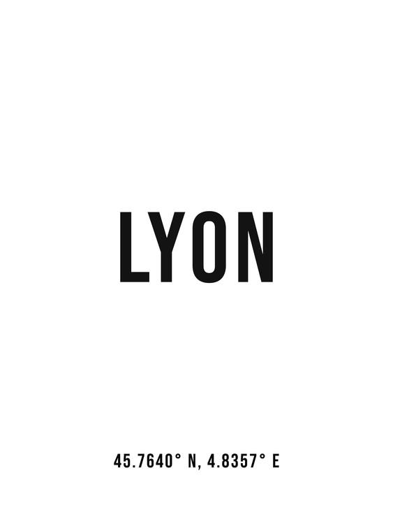 Ekskluzivna fotografska umetnost Lyon simple coordinates