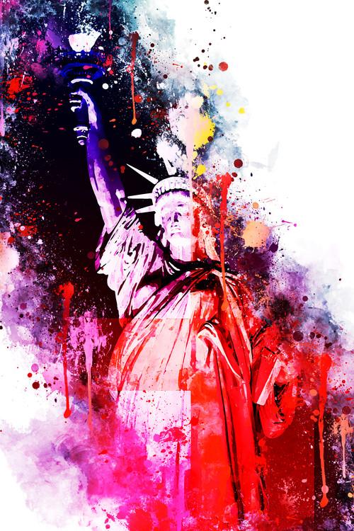Ekskluzivna fotografska umetnost NYC Watercolor 036