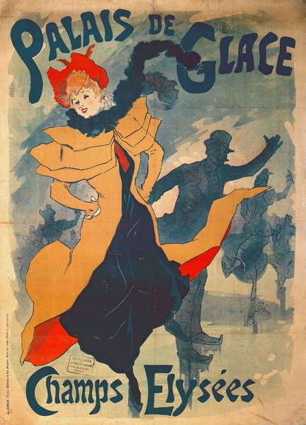 Poster advertising the Palais de Glace on the Champs Elysees Reprodukcija