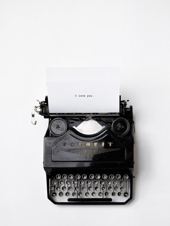 Ekskluzivna fotografska umetnost type writer i love you