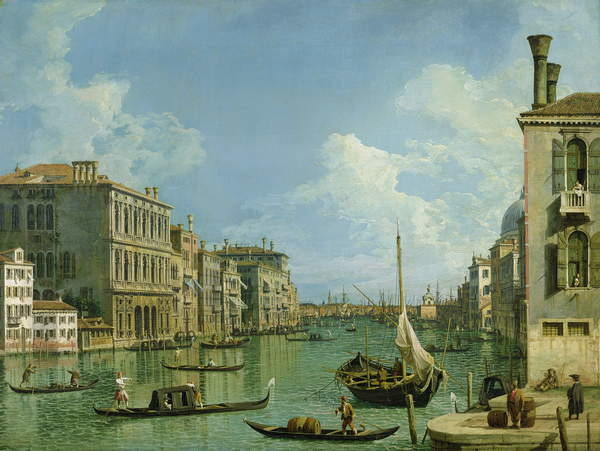 View of the Grand Canal Reprodukcija