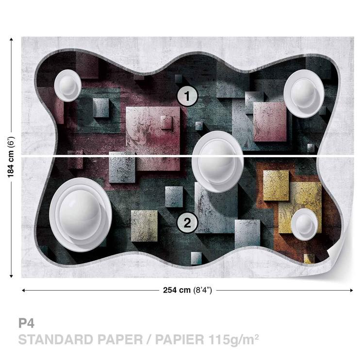 Fotomural Abstracto Diseño Moderno Esferas de Arte