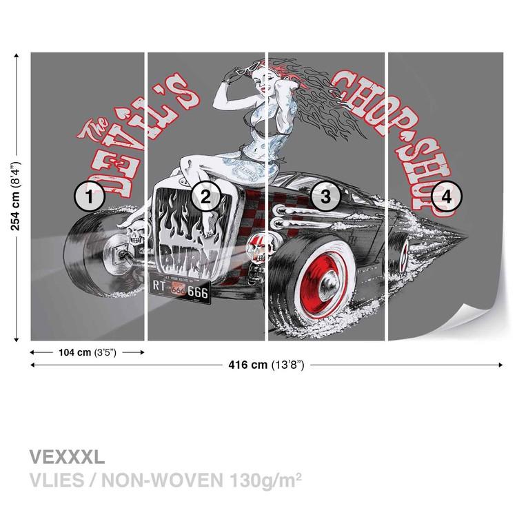 Fotomural Alchemy Hot Rod Devil Car