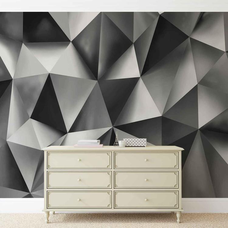 Fotomural Arte abstracto gris