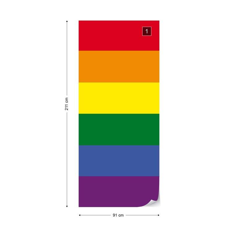 Fotomural Bandera del orgullo gay