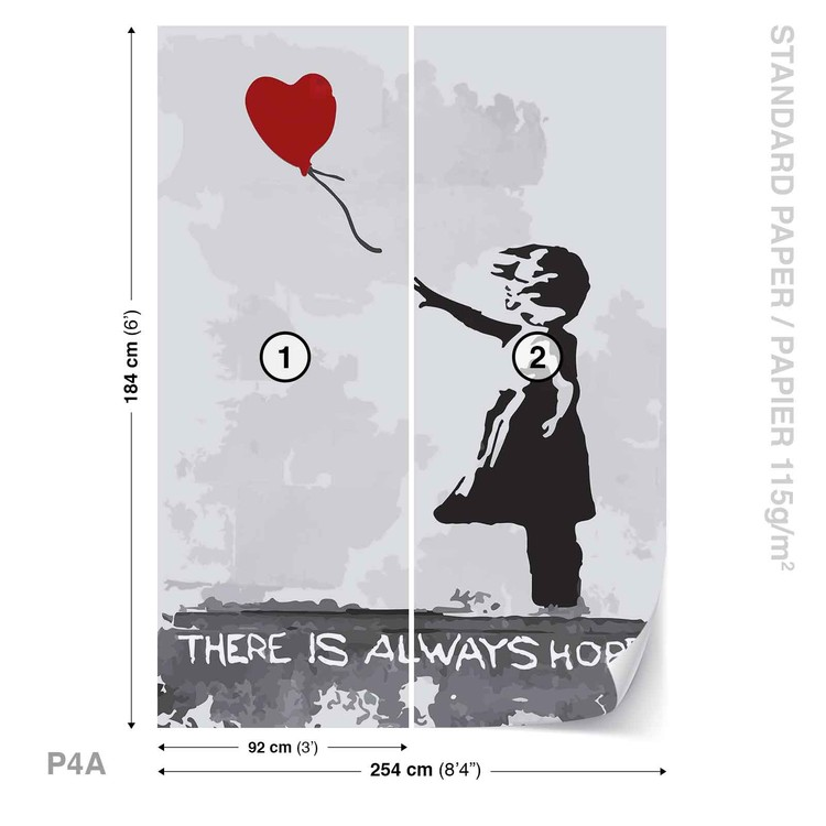 Fotomurale  Banksy Street Art Balloon Heart Graffiti