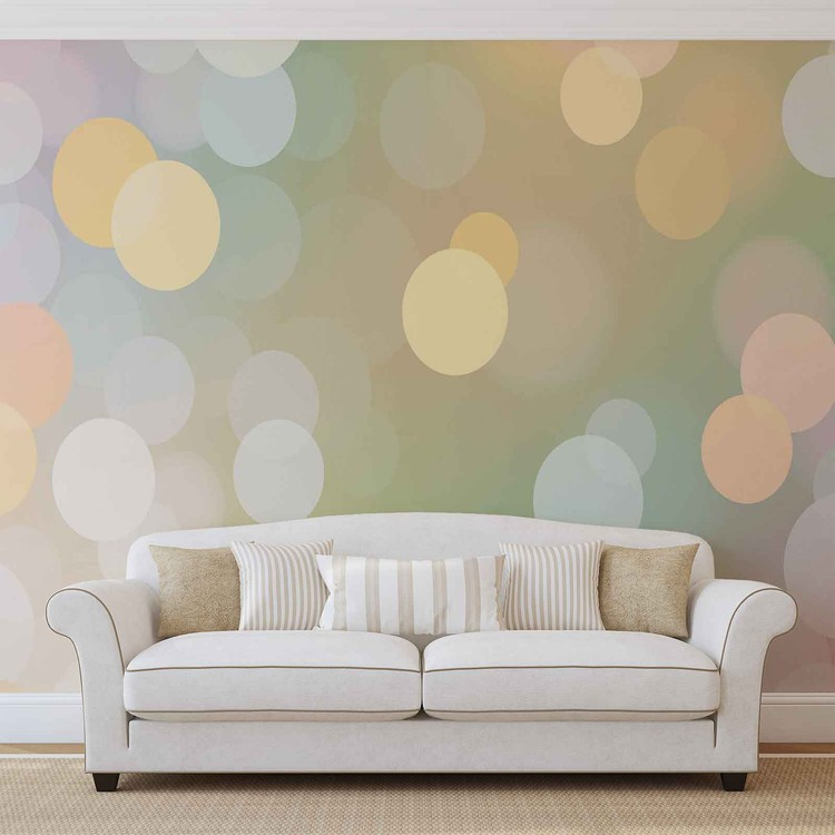 Fotomural Bokeh abstracto Color Pastel
