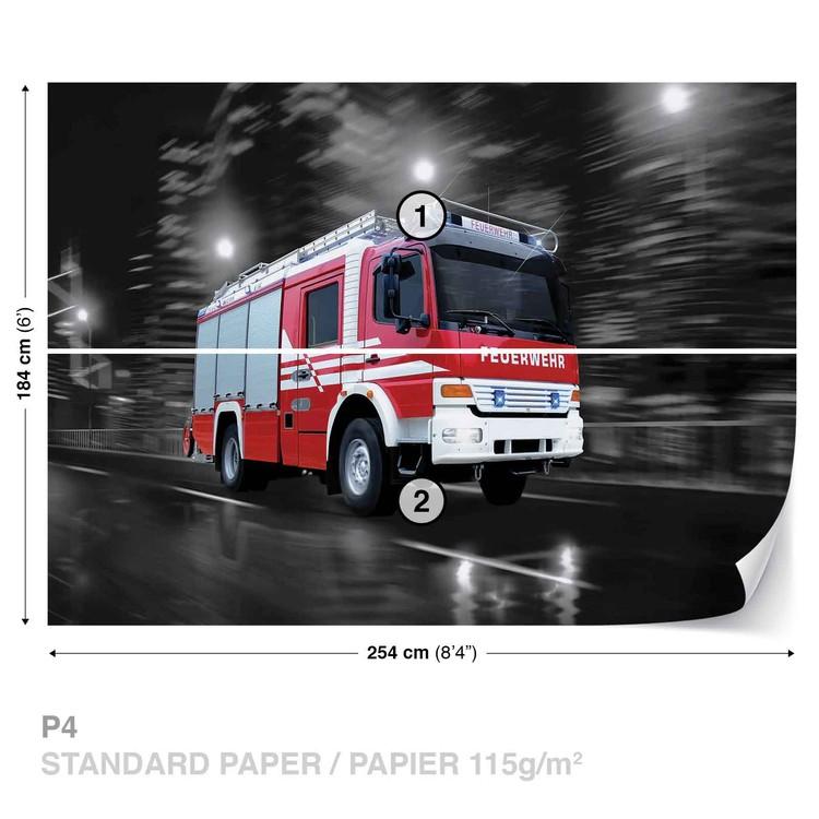 Fotomural Camion de bomberos