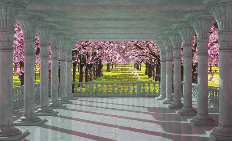Fotomural Cerezos a traves de los arcos