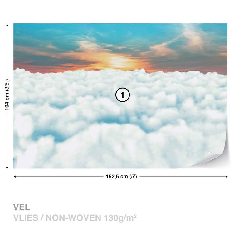 Fotomurale Cielo Nubes Puesta de sol, Papel pintado   Europosters.es