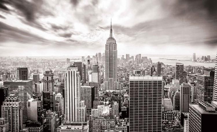 Fotomurale Ciudad Skyline Empire State Nueva York, Papel pintado ...