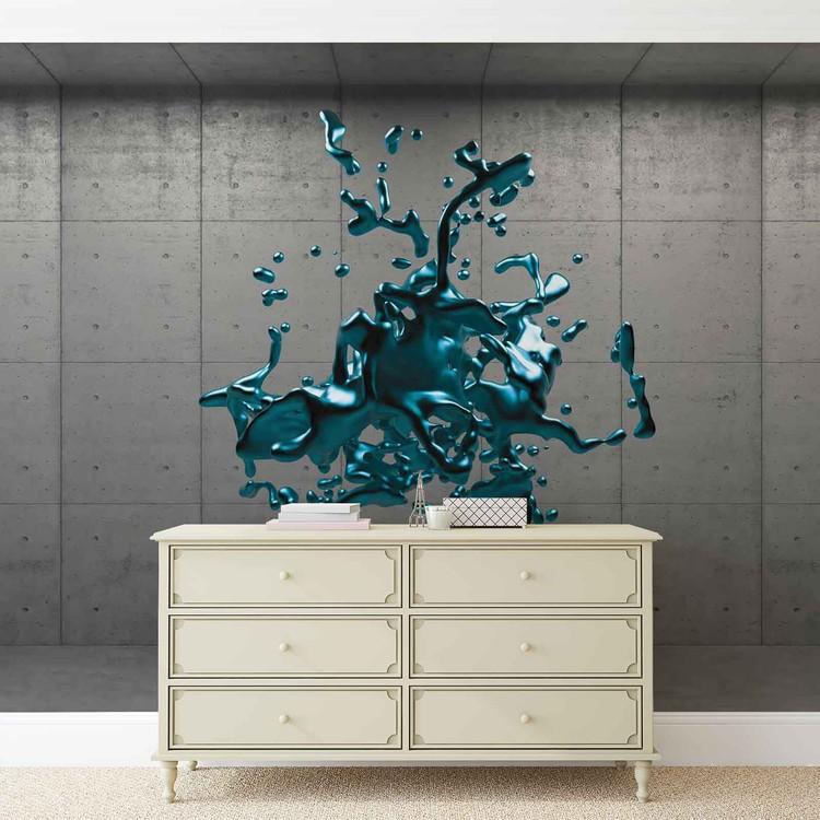 Fotomurale  Diseño abstracto de la pintura concreta