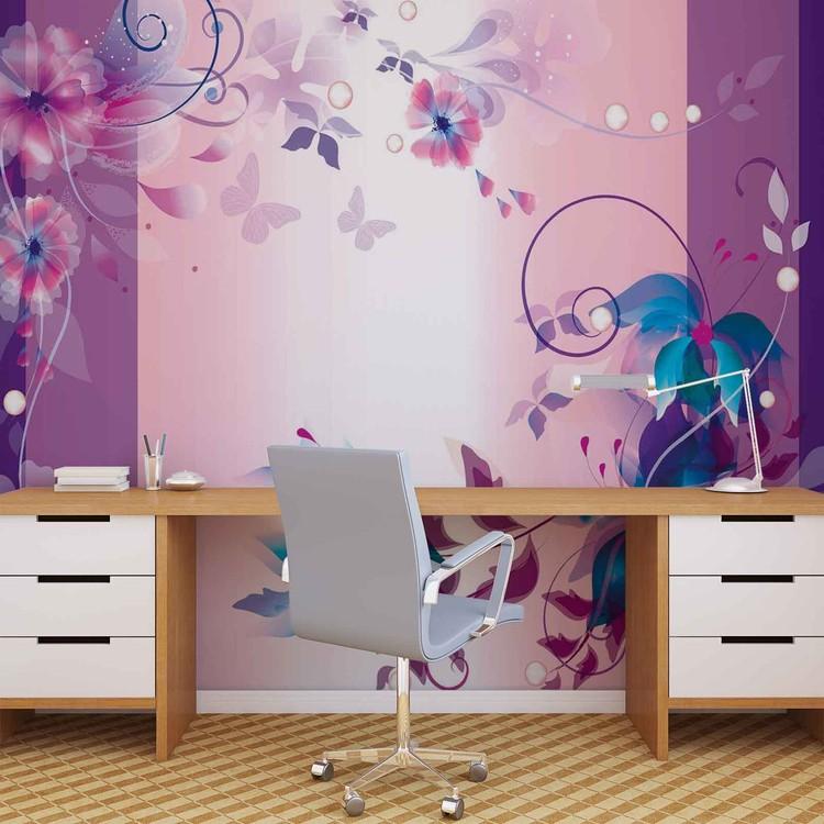Fotomural Diseño floral