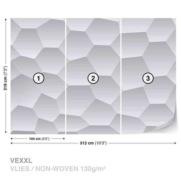 Fotomural Diseño moderno abstracto del monocromo
