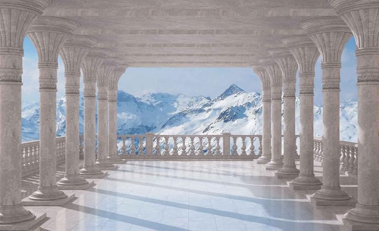 Fotomural  Escena de montaña a traves de los arcos