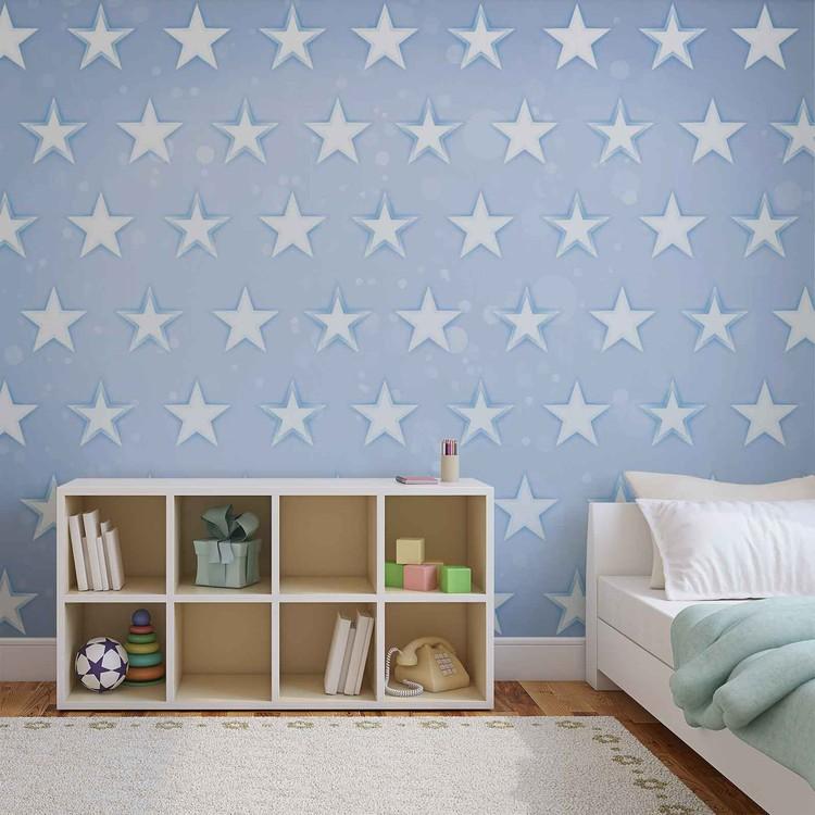 Fotomural Estrellas Patron Azul