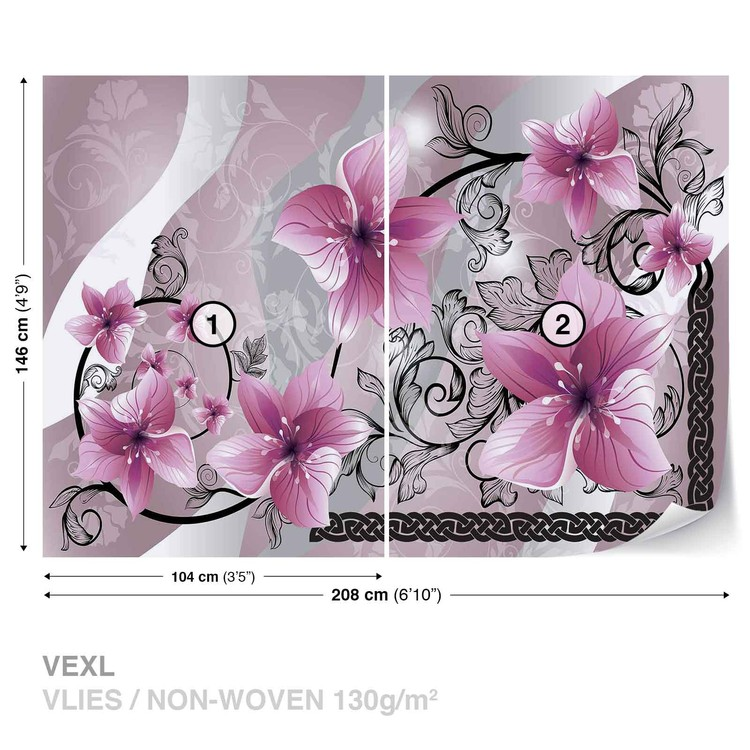 Fotomural Flores patron floral