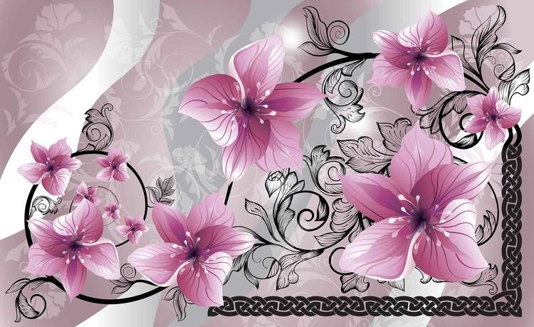 Fotomurale  Flores patron floral