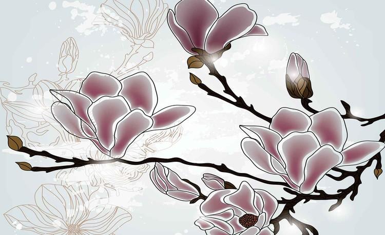 Fotomurale Flowers Magnolia Branch