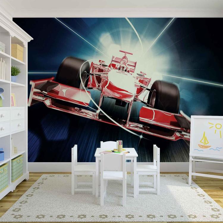 Fotomural  Formula 1 del coche roja