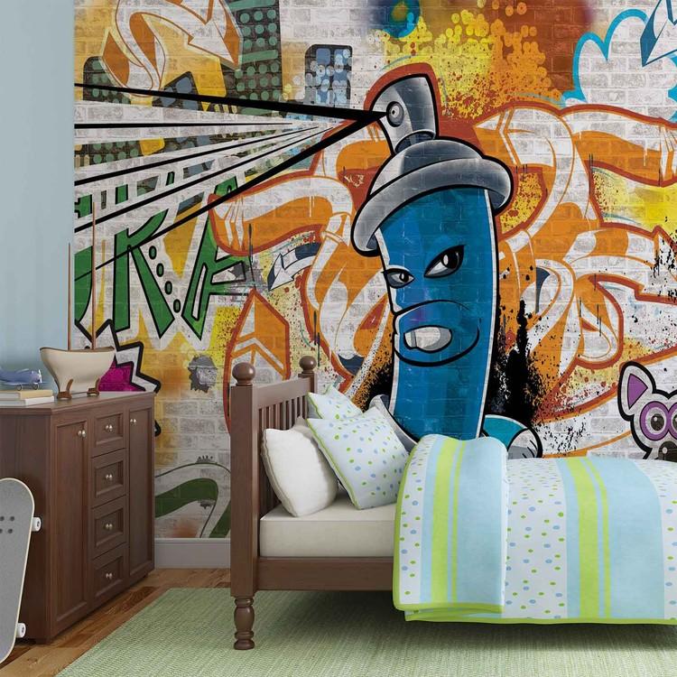 Fotomural graffiti, Arte callejero