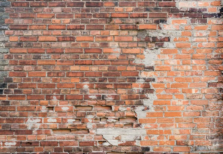 Fotomural Grunge Brick Wall Papel Pintado Europosterses