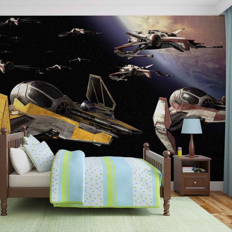 Fotomurale Guerra de las galaxias Anakin Jedi Starfighter, Papel ...