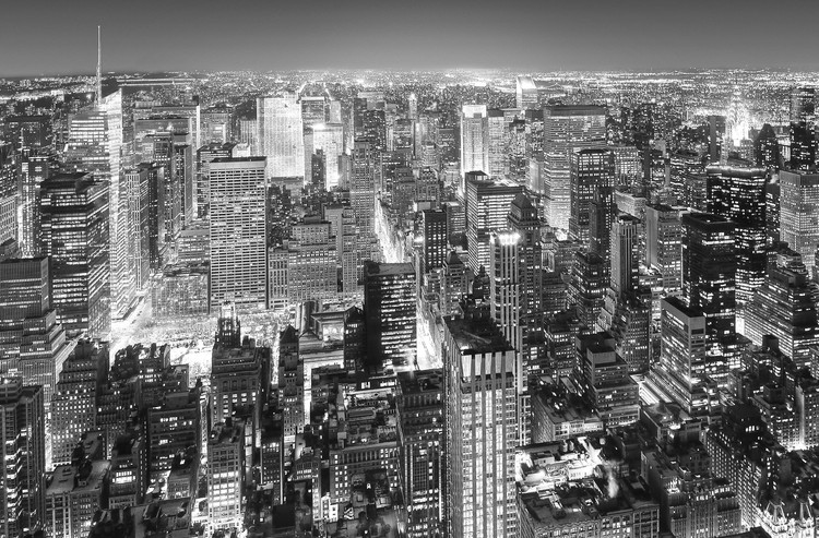 Fotomural  HENRI SILBERMAN - empire state building, east view