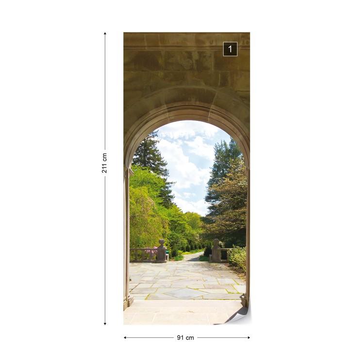Fotomural Jardin a traves de arcos