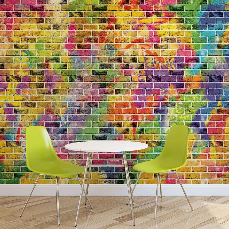Fotomurale  Ladrillos Multicolor