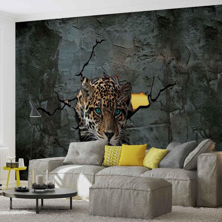 Fotomural Leopard 3D