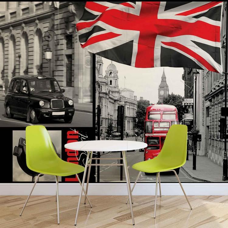 fotomurale londres papel pintado. Black Bedroom Furniture Sets. Home Design Ideas