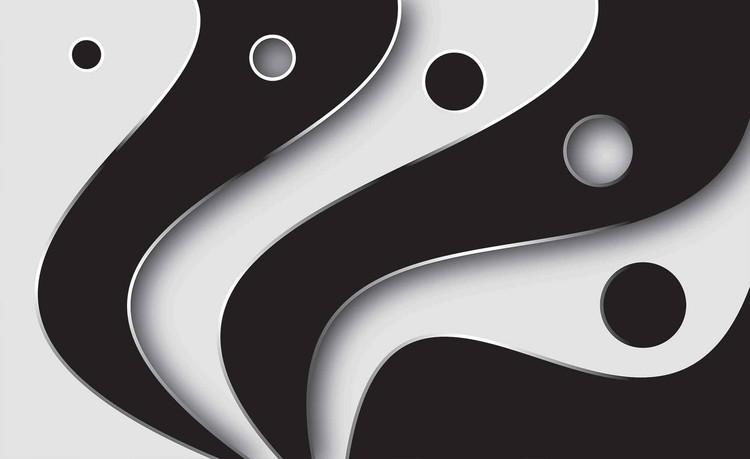Fotomurale luz abstracta patron blanco y negro papel - Papel pintado blanco y negro ...