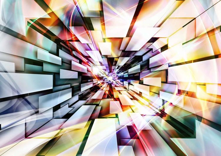 Fotomurale  Modelo abstracto Muticolour