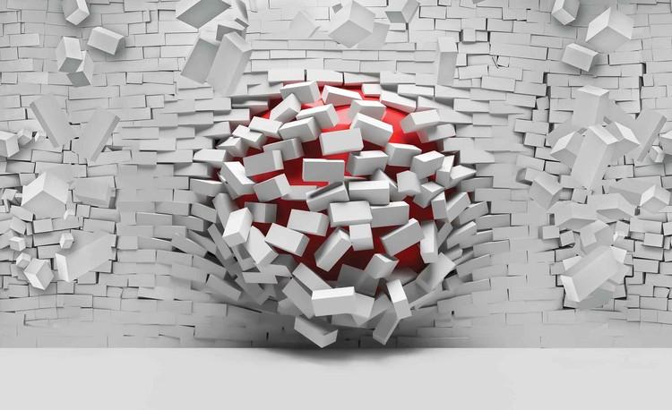 Fotomural  Modern Abstract Brick Wall