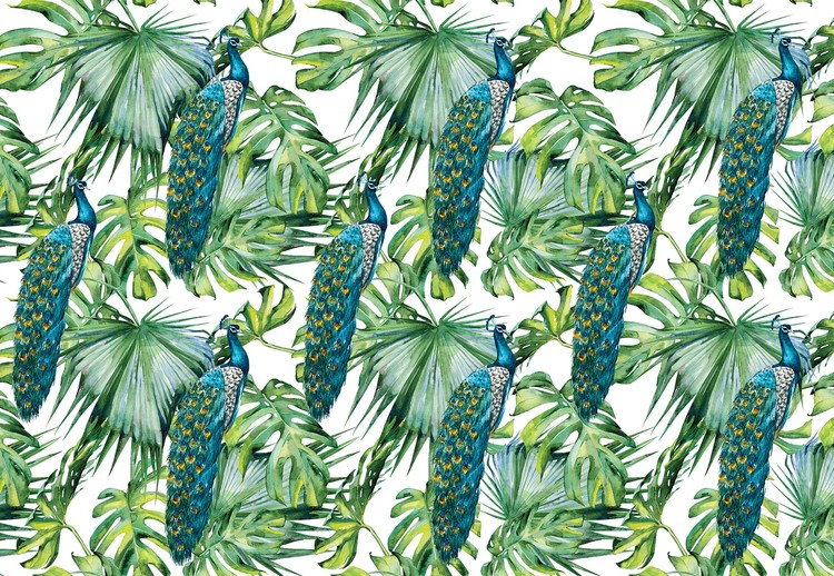 Fotomural Modern Tropical Pattern
