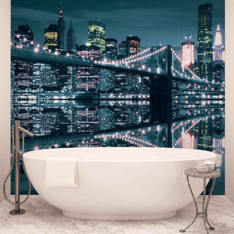 Fotomurale New York City Skyline Brooklyn Bridge