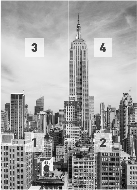 Fotomurale Nueva York - The Empire State Building, Papel pintado ...