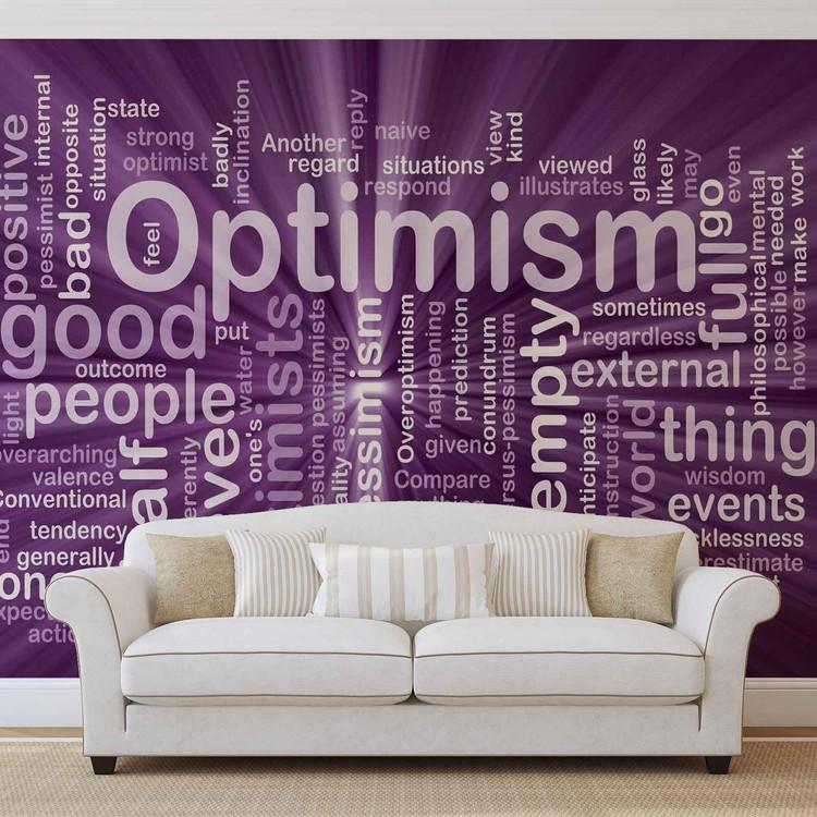 Fotomurale  Optimismo Resumen