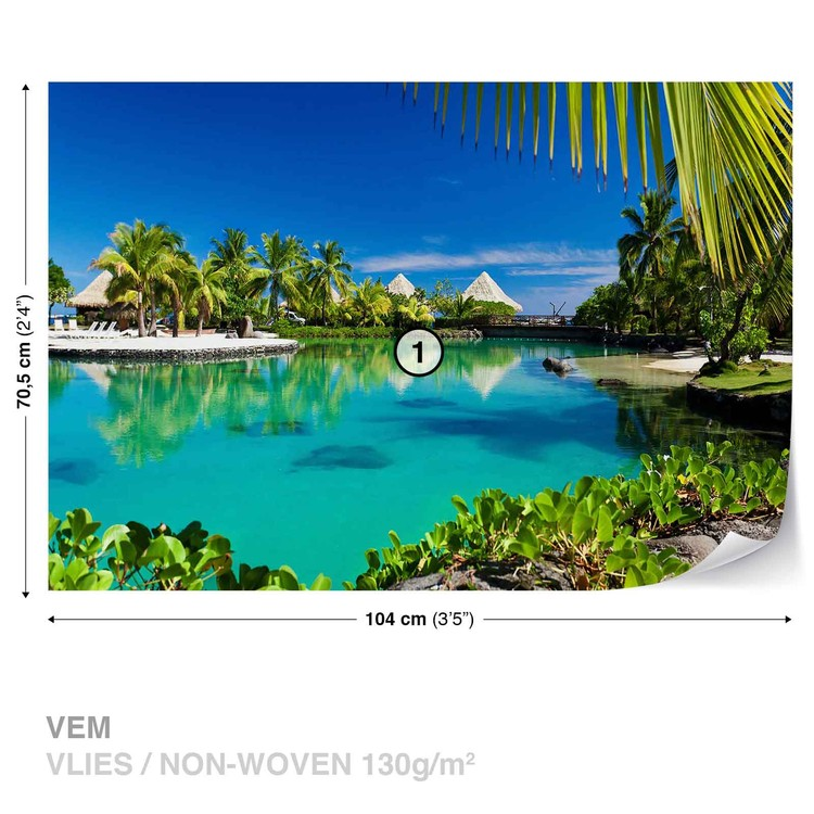 Fotomural  Palmeras de la isla Mar tropical