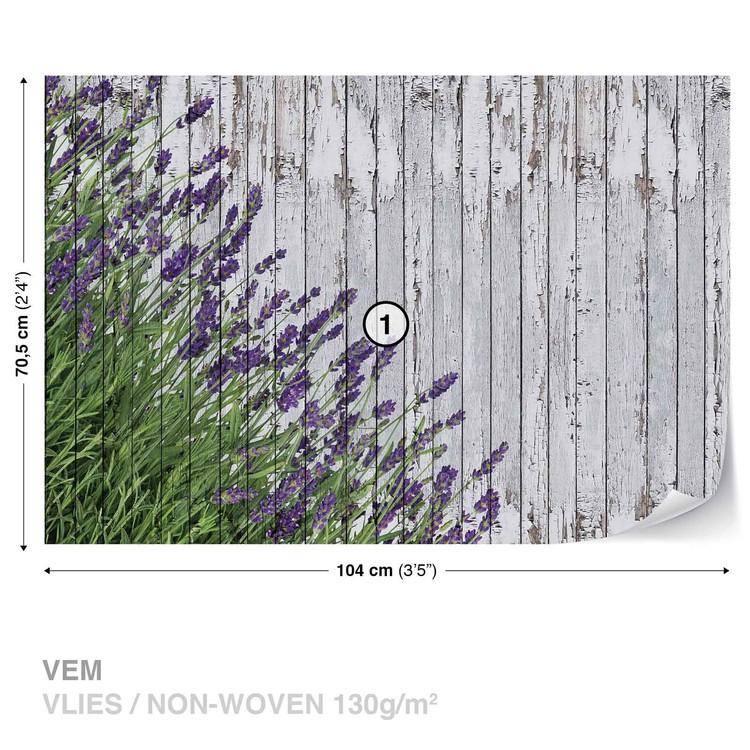 Fotomurale  Planchas de madera Lavendar